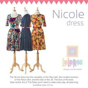 aa950ab94d0 LUlaroe Nicole Dress Lularoe Nicole