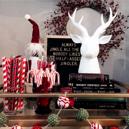 4 Quick Tips To Help You Style Your Christmas Bar Cart