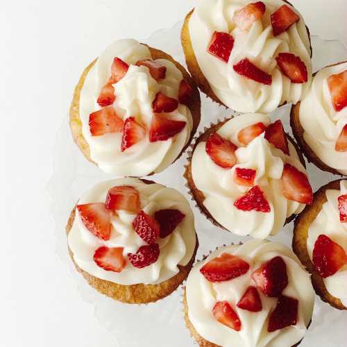 Strawberry Lemonade Cupcakes from INDULGE WITH ME