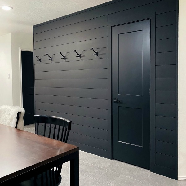 Our Black Shiplap Wall: Before, After & Tips